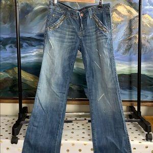 Vigoss bootcut blue jeans size 3/4